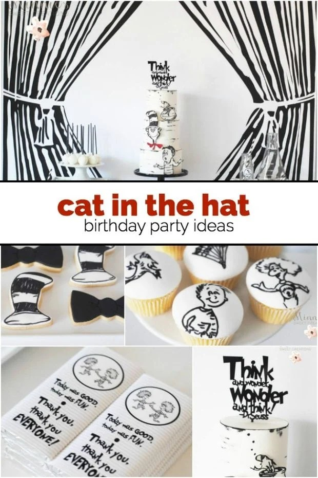 Boy's Cat in the Hat Birthday Party Ideas