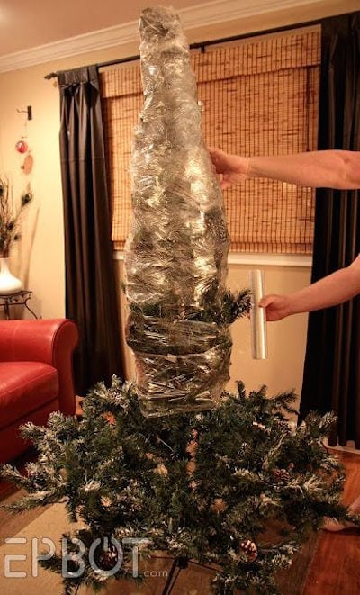 How to Shrink Wrap Your Christmas Tree