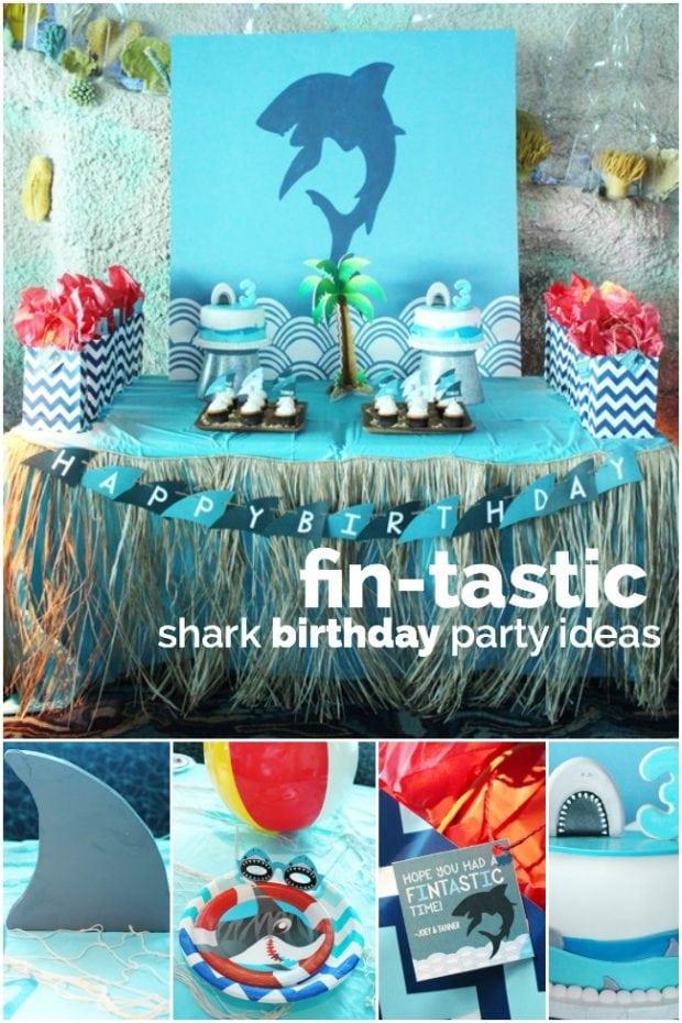 Shark Themed Birthday Party Ideas for Boys