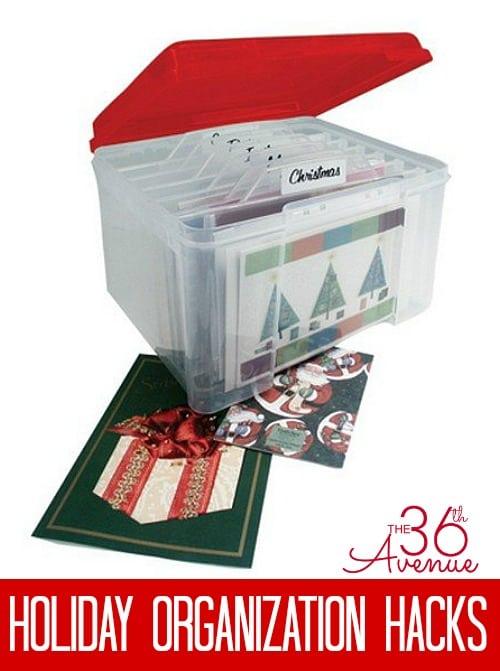 Christmas Card Organizer