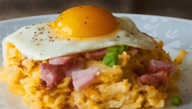 Hash Brown Casserole Ham & Eggs