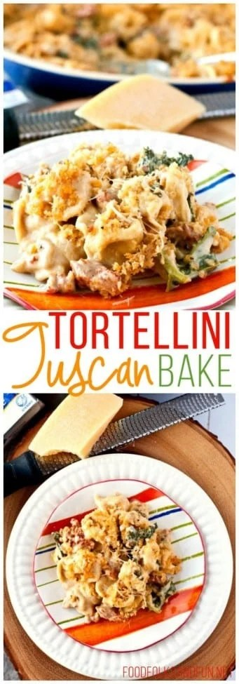 Creamy Tortellini Tuscan Bake
