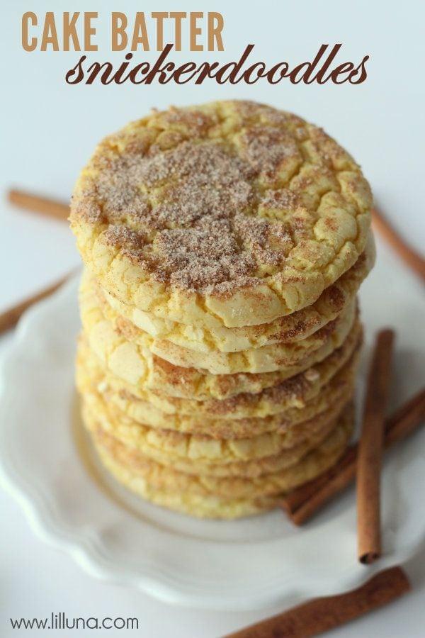 Cake Batter Snickerdoodles