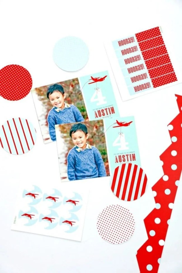 Airplane Birthday Party Invitation for Boys