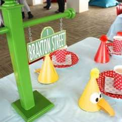 Elmo Table And Chairs Hanging Chair Serena Lily Themed Birthday Party - Spaceships Laser Beams