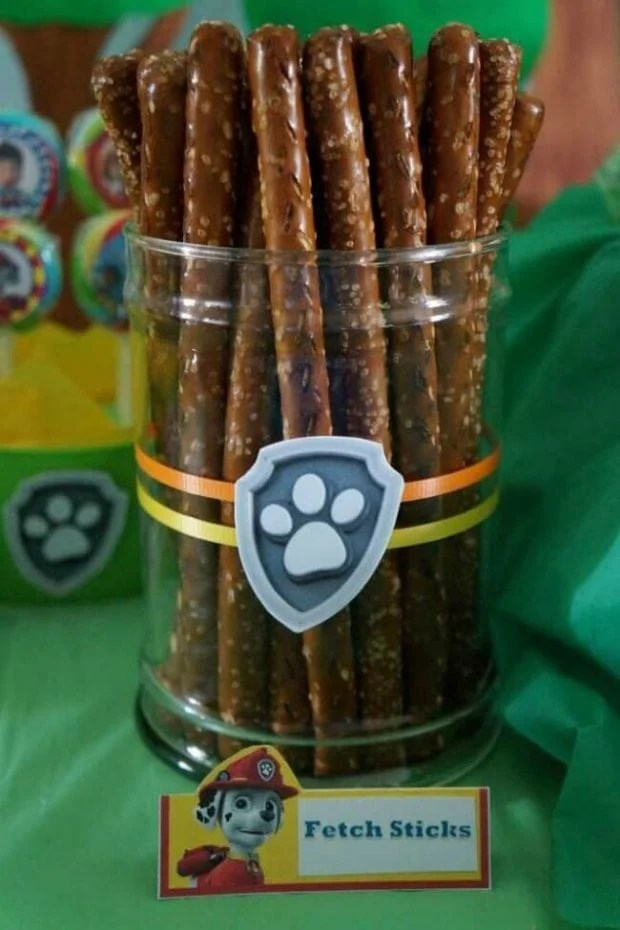 Pretzel Fetch Sticks for PAW Patrol parties
