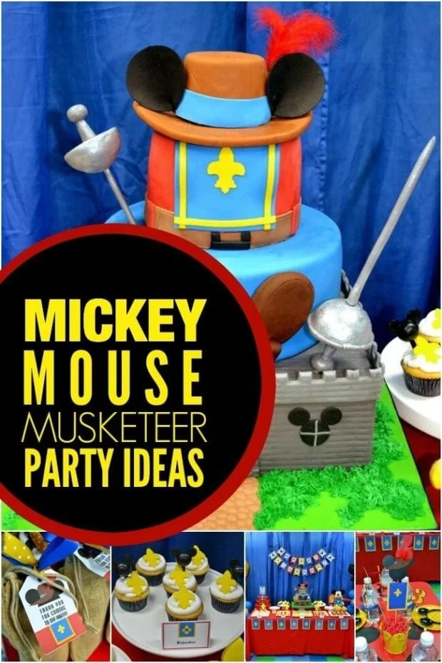 4 A Boy's Mickey Mouse Musketeer Birthday Party