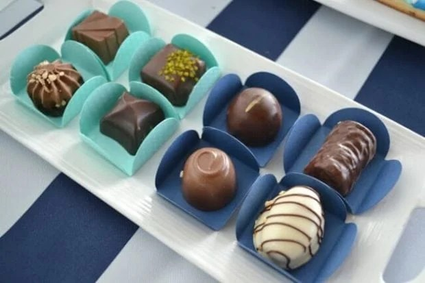 Boys Whale Themed Baby Shower Party Food Chocolate Ideas