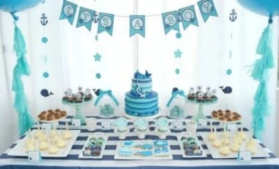 Turquoise Drinks For A Boy Baby Shower