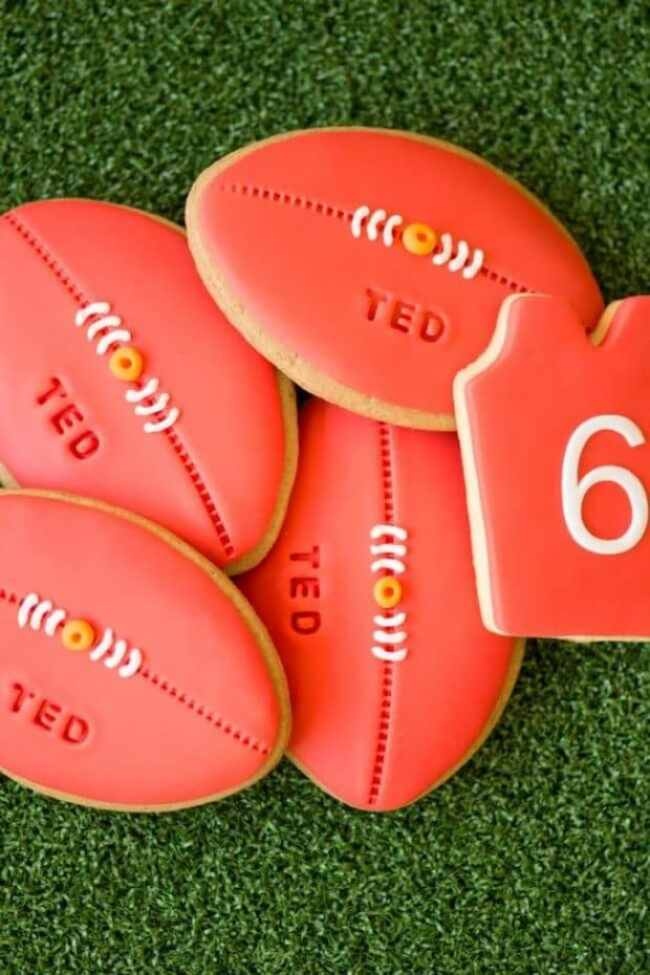 football-birthday-party-decorated-cookies