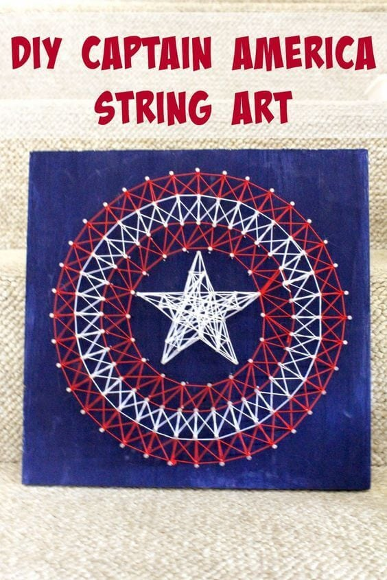 21 Captain America String Art Party Ideas