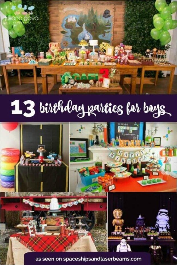 13 Best Boy S Birthday Party Ideas Spaceships And Laser
