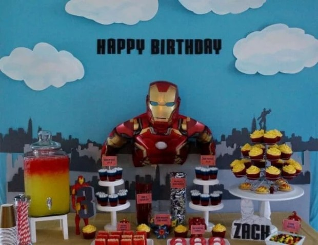 Iron Man Birthday Party Dessert Table