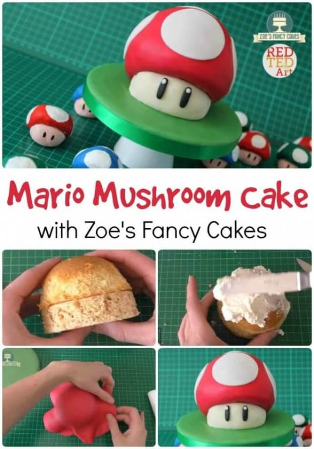 These Mario Mushroom cupcakes are cute and fun. Perfect for a Mario Bros party.