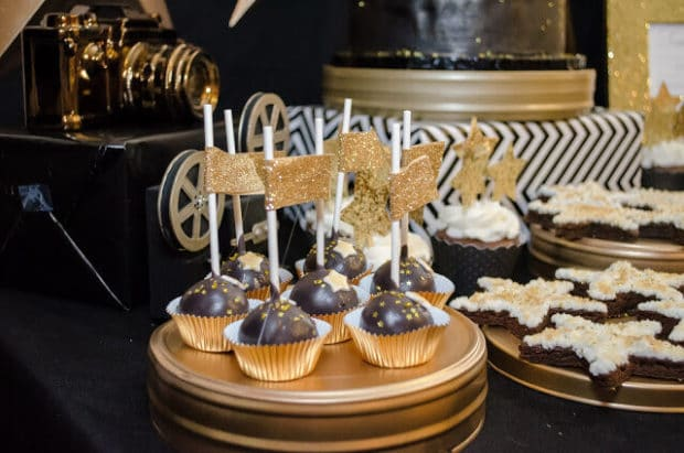 Boys Hollywood Themed Birthday Party Cake Pop Ideas