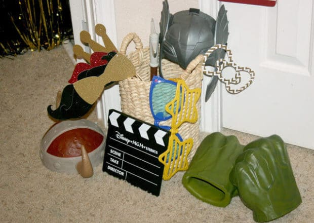 Boys Hollywood Themed Party Photo booth