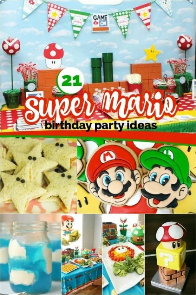 21 Super Mario Brothers Birthday Party from Spaceships and Laser Beams.