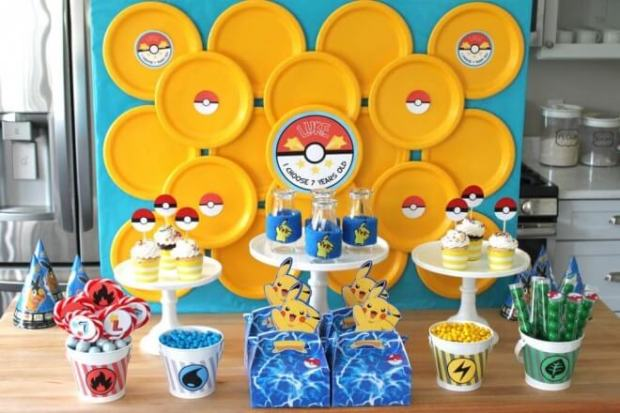Pokemon Party Dessert Table