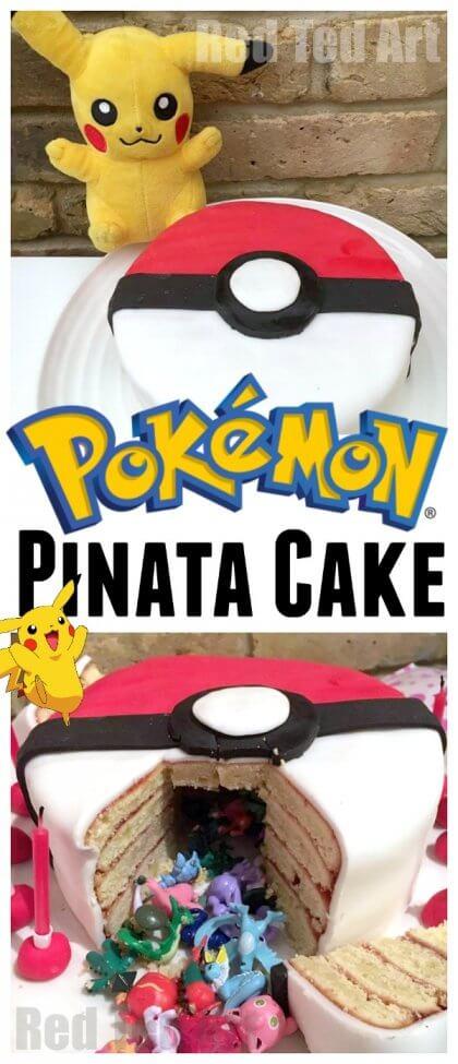 DIY Pokemon Pinata Cake