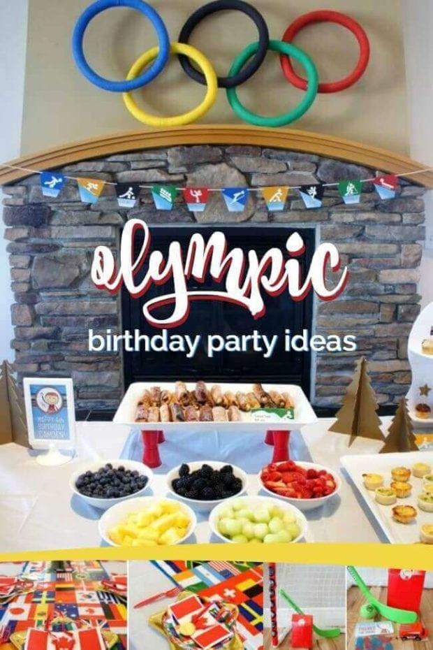 Olympic Themed Birthday Party Ideas