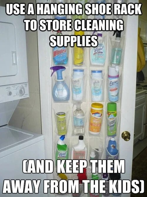 Hanging Shoe Rack Cleaning Supplies Storage