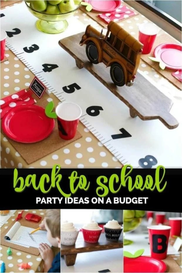Back to School Party on a Budet