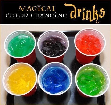 Guests at your Harry Potter party will love these magical color-changing drinks!