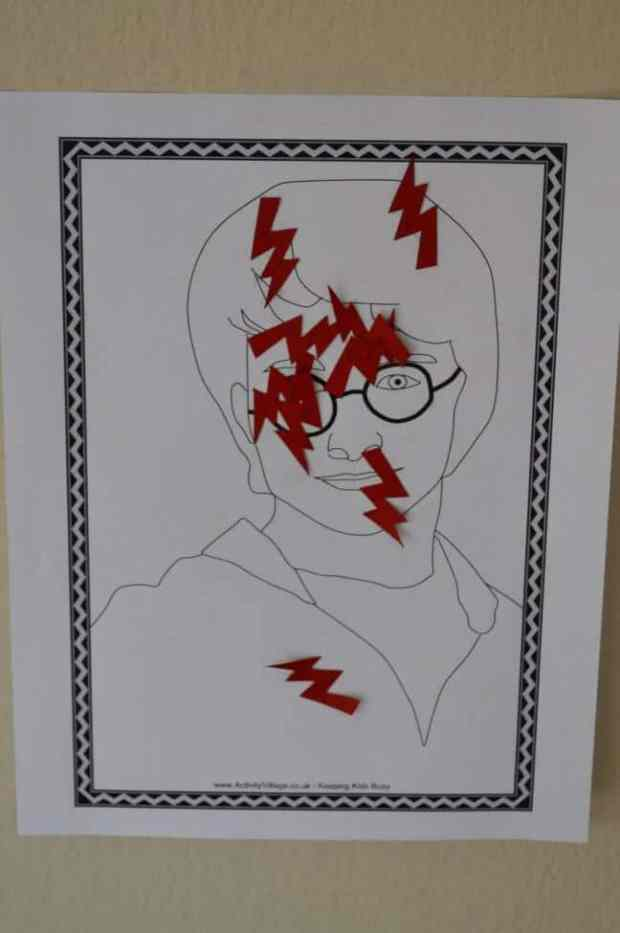 Pin the Lightning Bolt Scar on Harry Potter is a fun Hogwarts party game