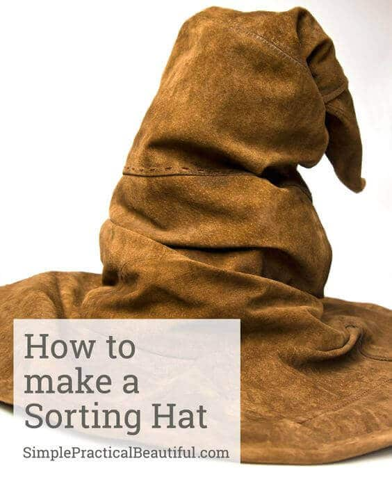 No Harry Potter party is complete without Hogwarts Houses! Make a DIY Sorting Hat to find out which house you're in
