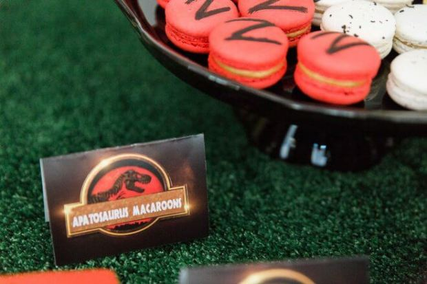 Boys Jurassic Park Themed Birthday Party Tags