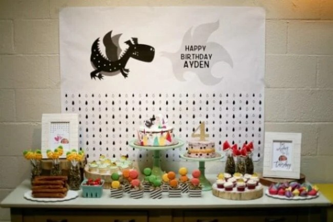 Dragons Love Tacos Birthday Party Dessert Table