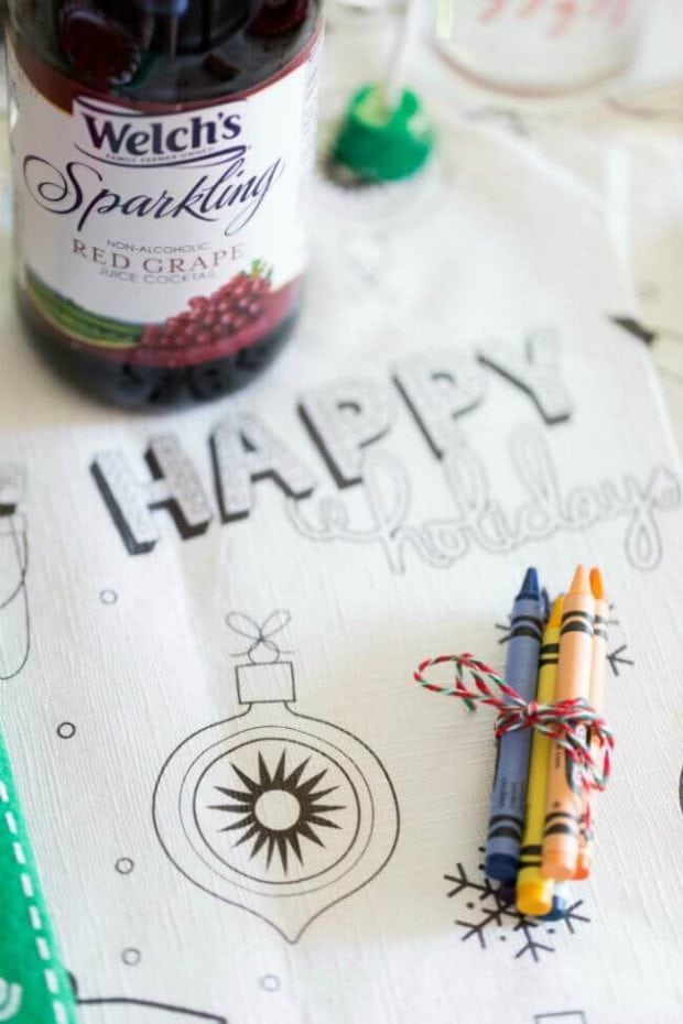 Coloring Table Cloth for Christmas