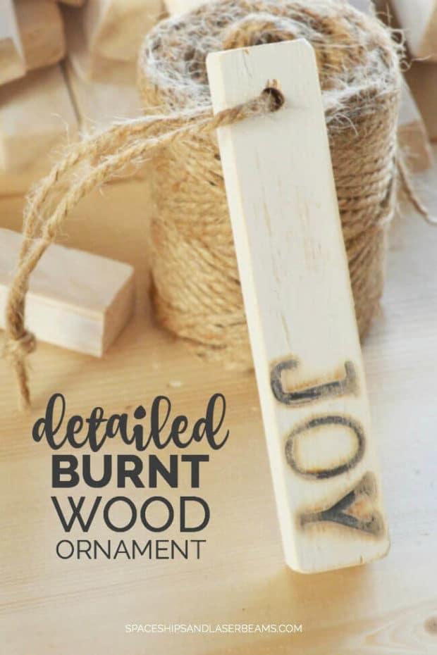 Homemade Burnt Wood Ornament