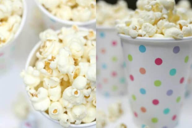 Family Movie Night Popcorn Cups