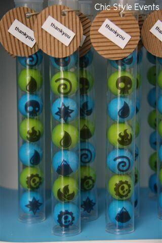 Elements Gumball Favors