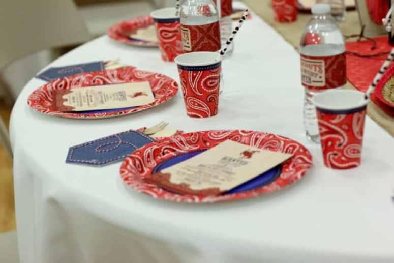 Cowboy Birthday Party Tables