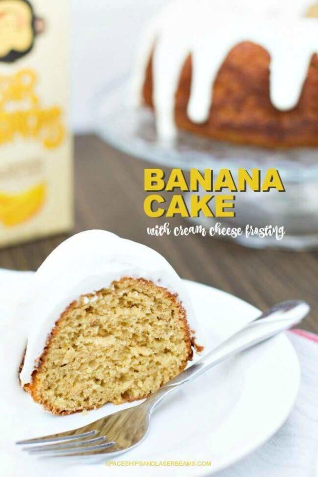 Easy Banana Cake Cream Cheese Icing