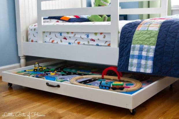 Under Bed Train Table