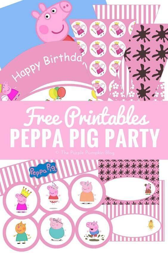 Free Peppa Pig Party Printables