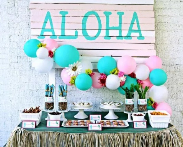 Luau Party Dessert Table