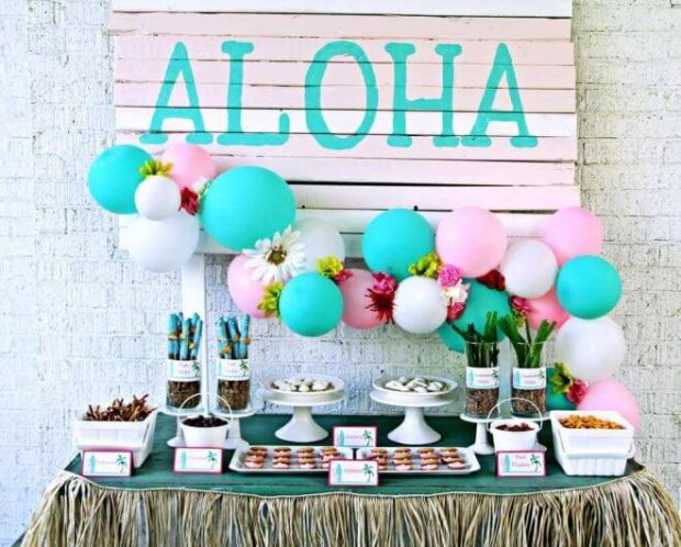 Luau Party Dessert Table