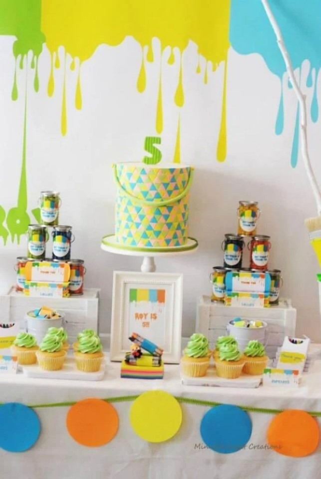 Neon art Paint Themed Party