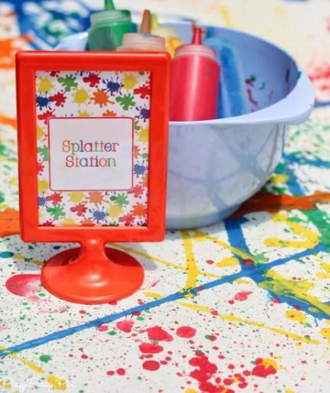 Paint Party Splatter Station