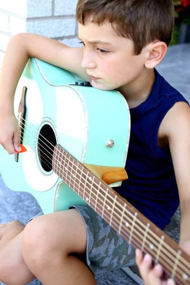 Kids Learning to Play Guitar