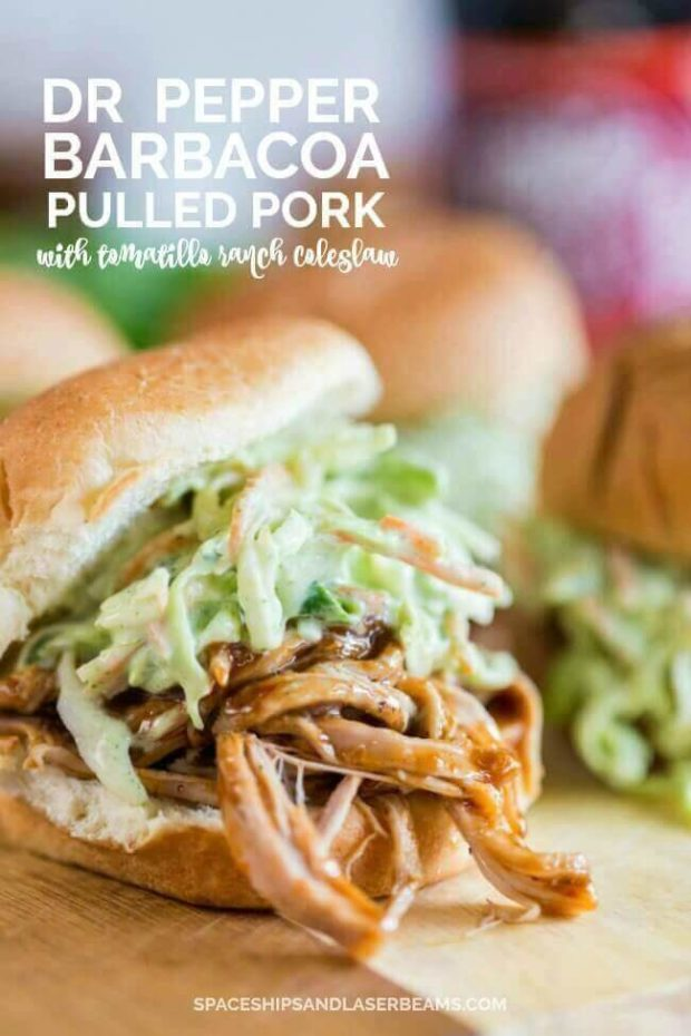 Dr Pepper Barbacoa Pulled Pork Sandwiches