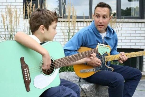 Dad and Son Guitar
