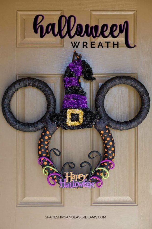 Disney Mickey Mouse Halloween Wreath