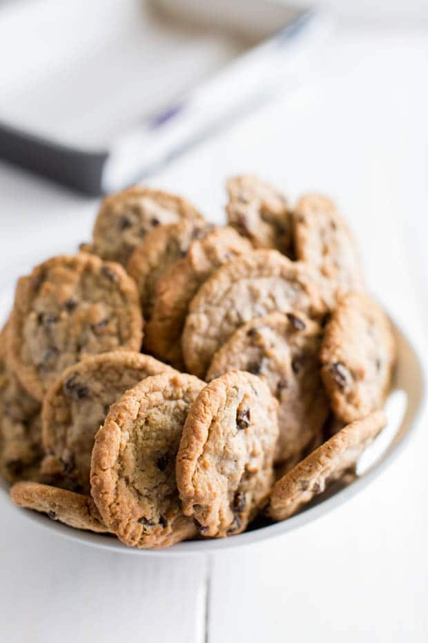 bowl of cookies for ice box cake