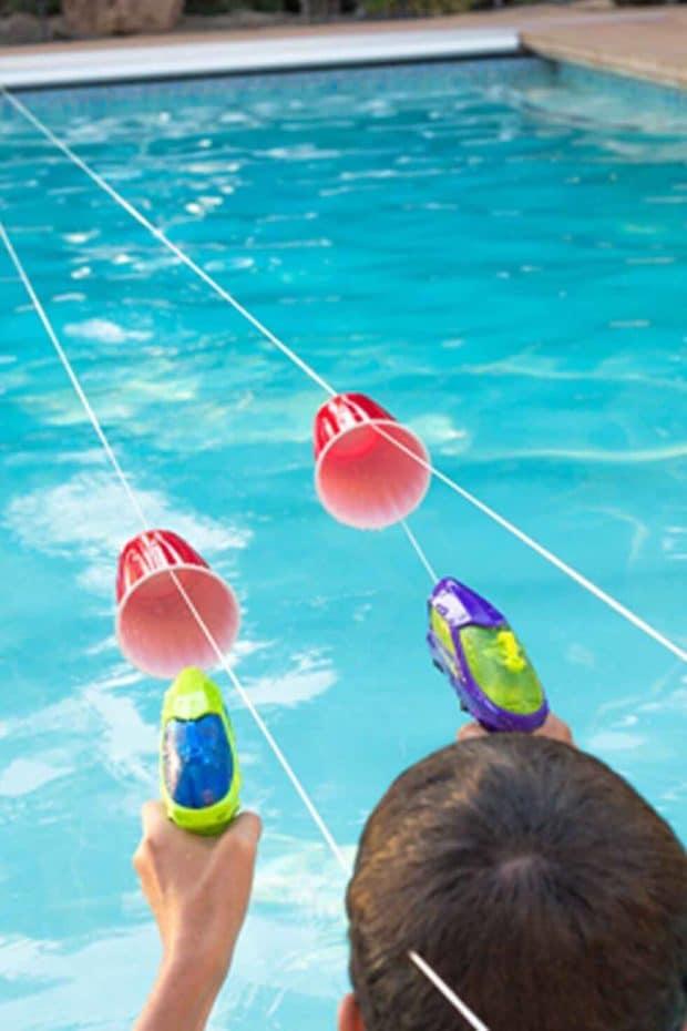 Pool Party Squirt Gun Races