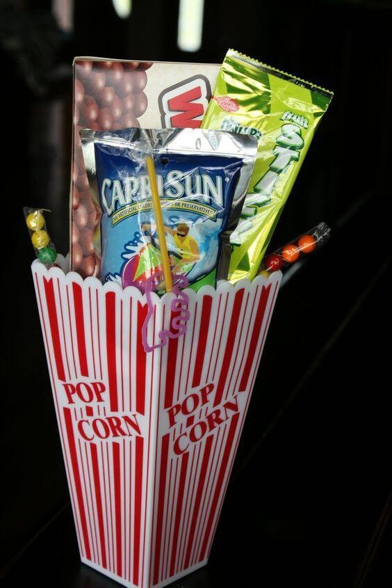 Slumber Party Movie Night Favor